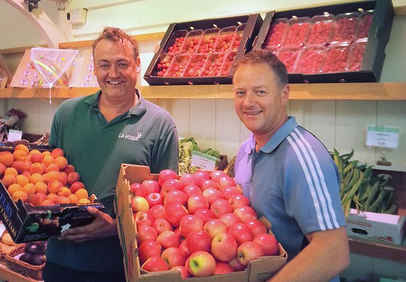 New fruit & veg section